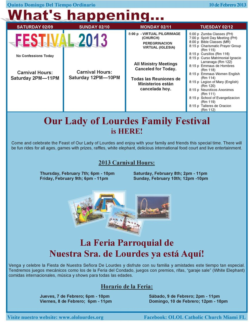 Our Lady of Lourdes Family Festival is HERE!