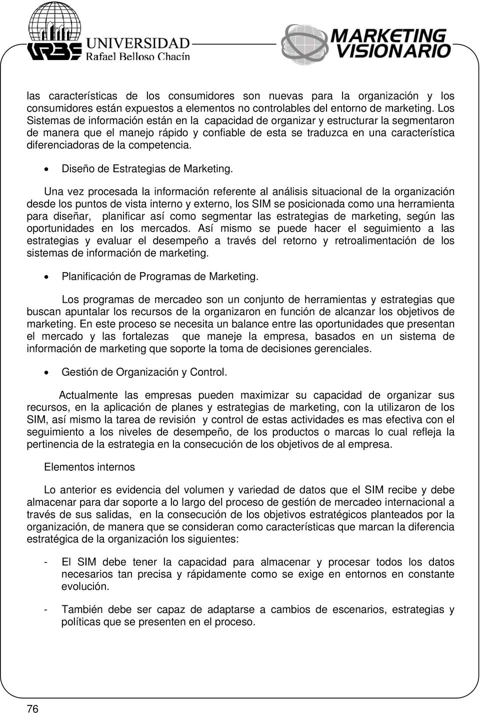 competencia. Diseño de Estrategias de Marketing.