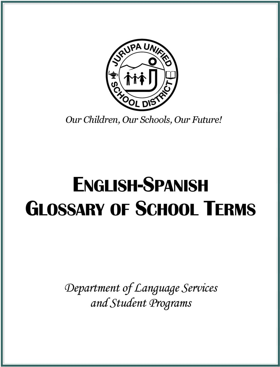 ENGLISH-SPANISH GLOSSARY OF