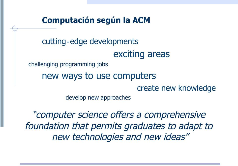 approaches create new knowledge computer science offers a