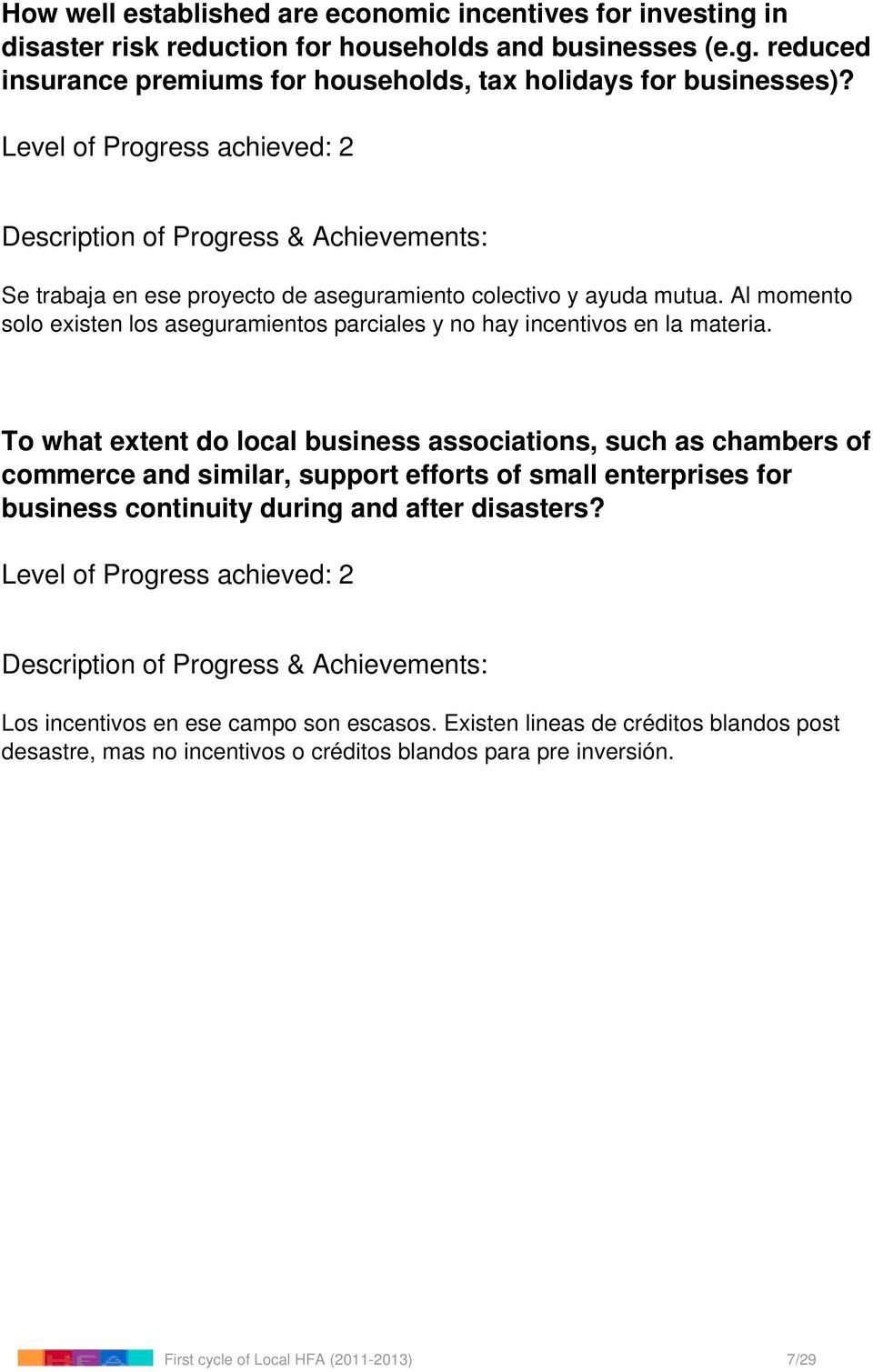 To what extent do local business associations, such as chambers of commerce and similar, support efforts of small enterprises for business continuity during and after disasters?