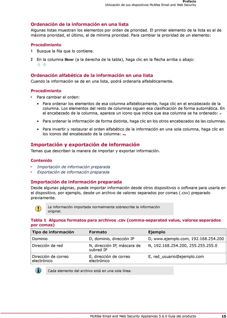 Guía del producto. McAfee and Web Security Appliances PDF