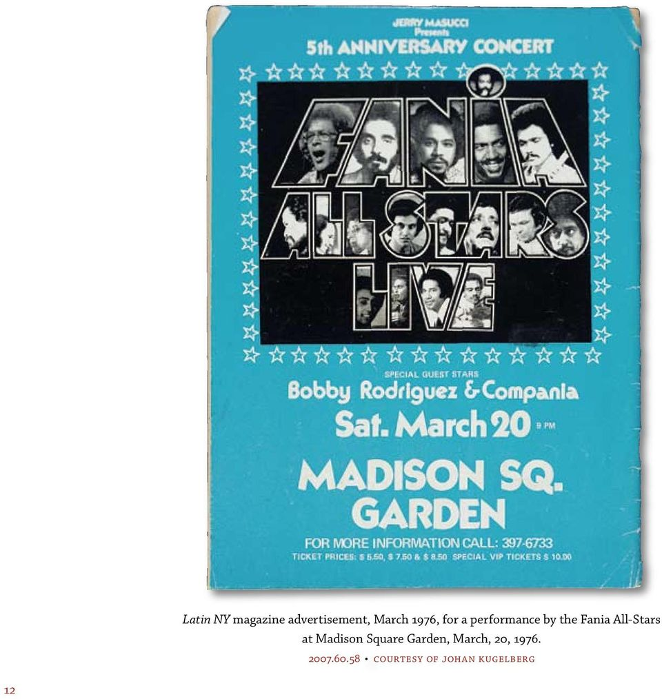 All-Stars at Madison Square Garden, March,