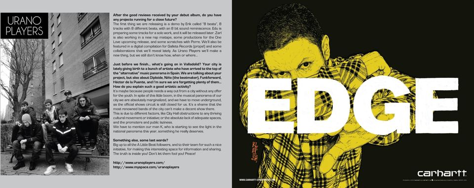 Edu is preparing some tracks for a solo work, and it will be released later.