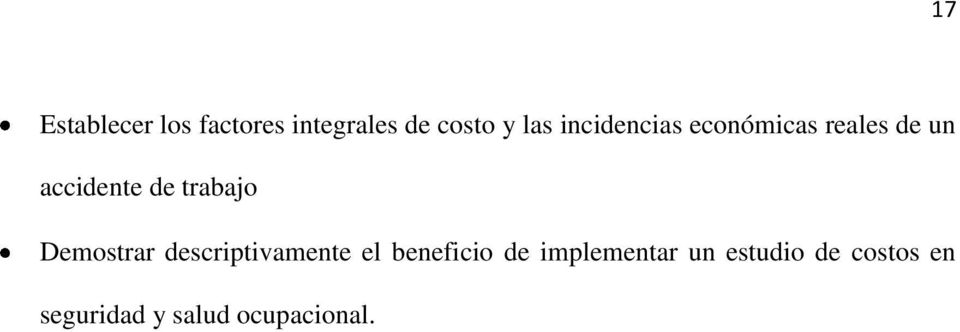 trabajo Demostrar descriptivamente el beneficio de
