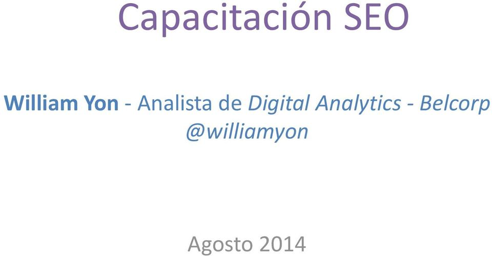 de Digital Analytics -