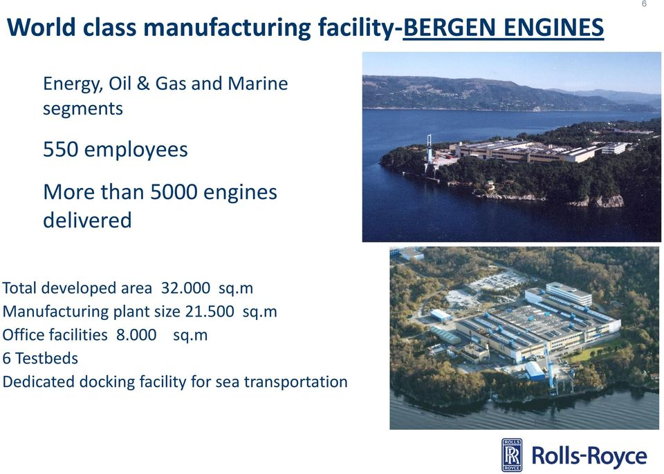 developed area 32.000 sq.m Manufacturing plant size 21.500 sq.