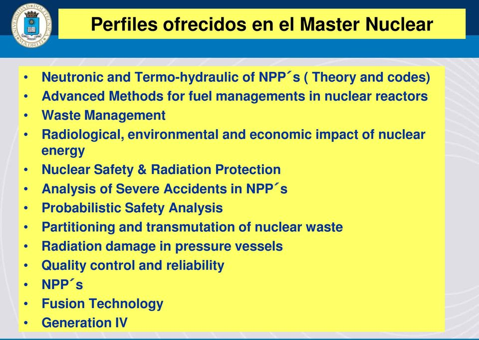 Safety & Radiation Protection Analysis of Severe Accidents in NPP s Probabilistic Safety Analysis Partitioning and