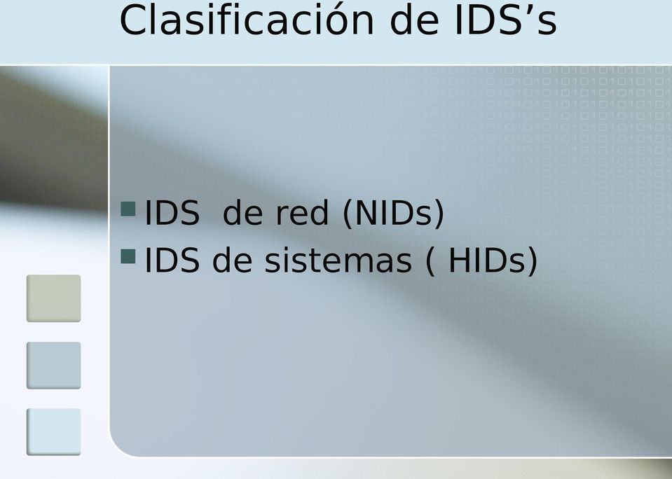 red (NIDs) IDS