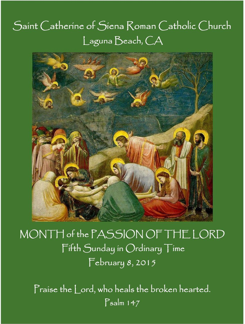 Fifth Sunday in Ordinary Time February 8, 2015