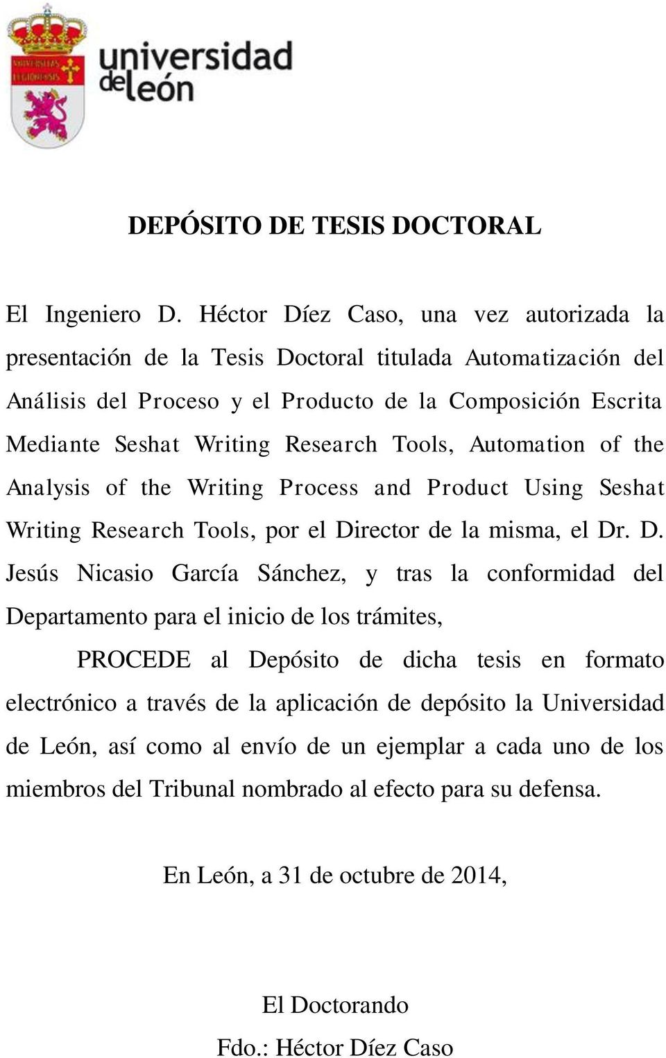 Tools, Automation of the Analysis of the Writing Process and Product Using Seshat Writing Research Tools, por el Di