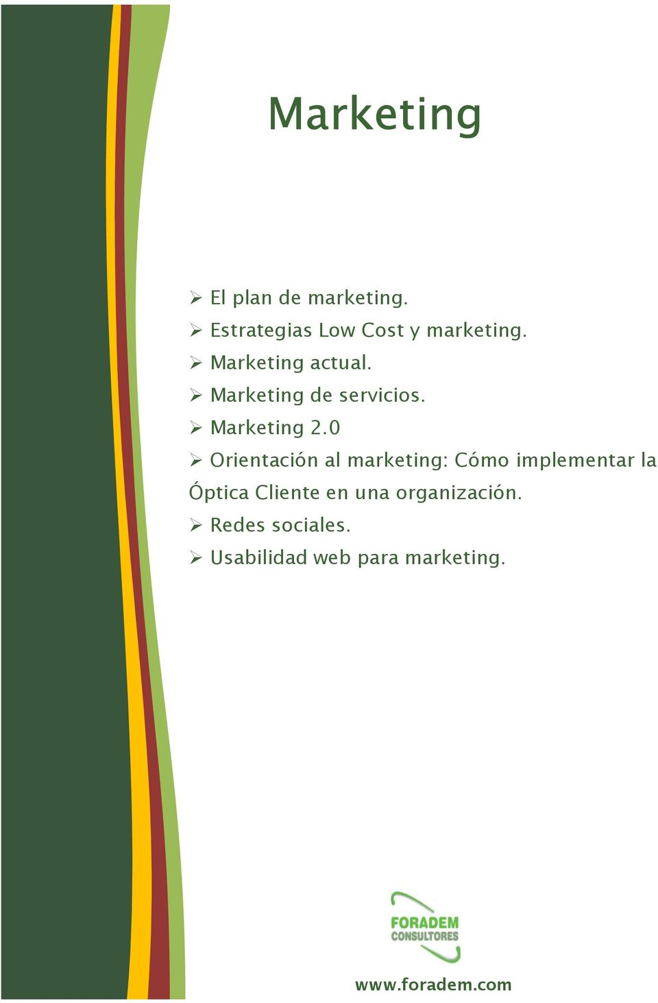 Marketing de servicios. Marketing 2.