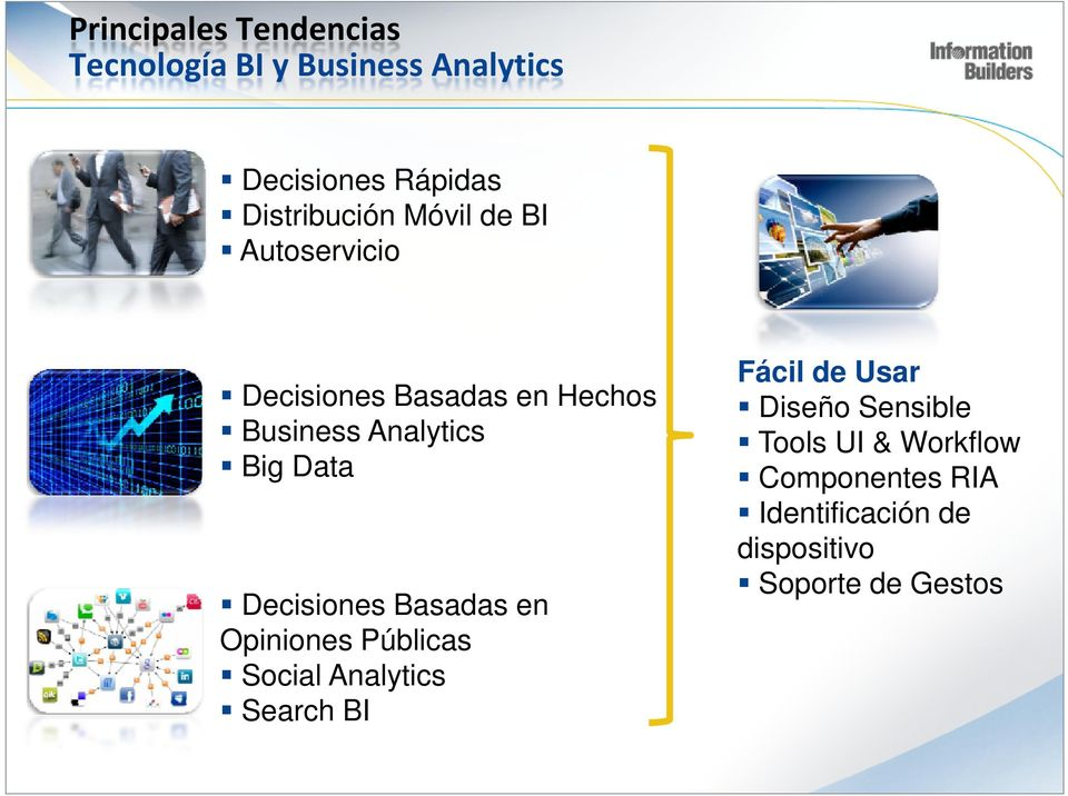Big Data Decisiones Basadas en Opiniones Públicas Social Analytics Search BI Fácil de