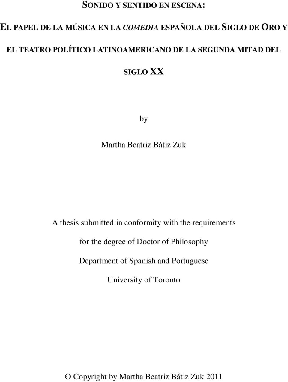 thesis submitted in conformity with the requirements for the degree of Doctor of Philosophy