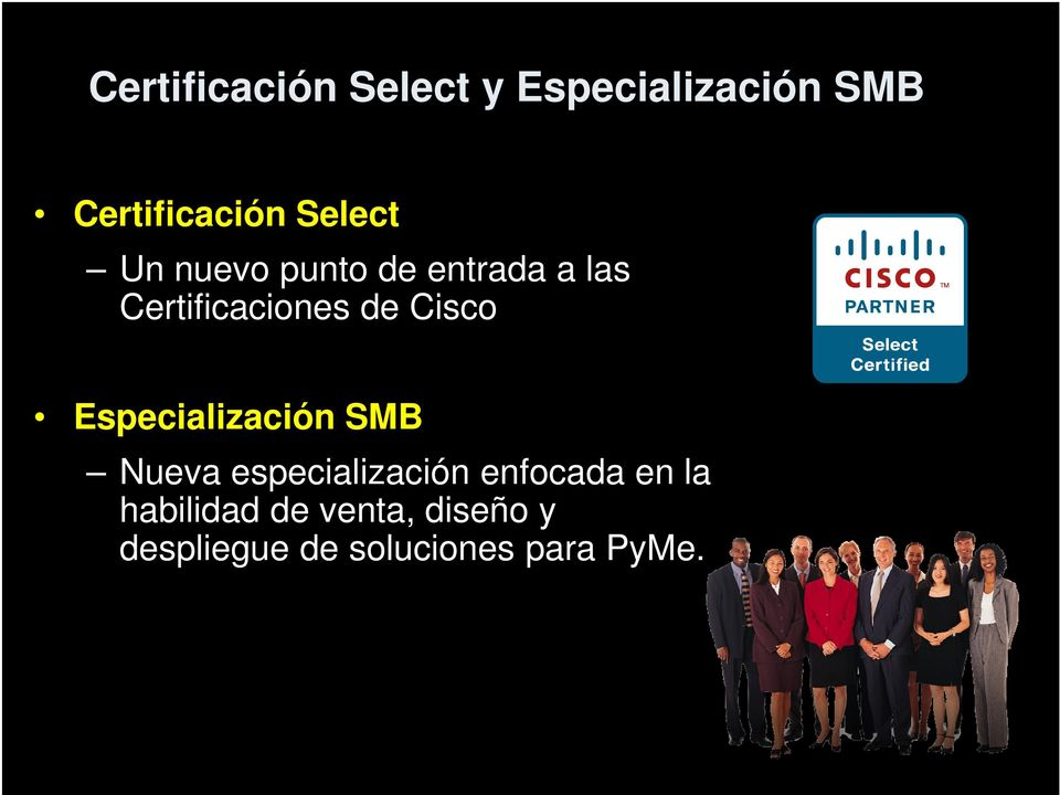 Cisco Especialización SMB Nueva especialización enfocada en