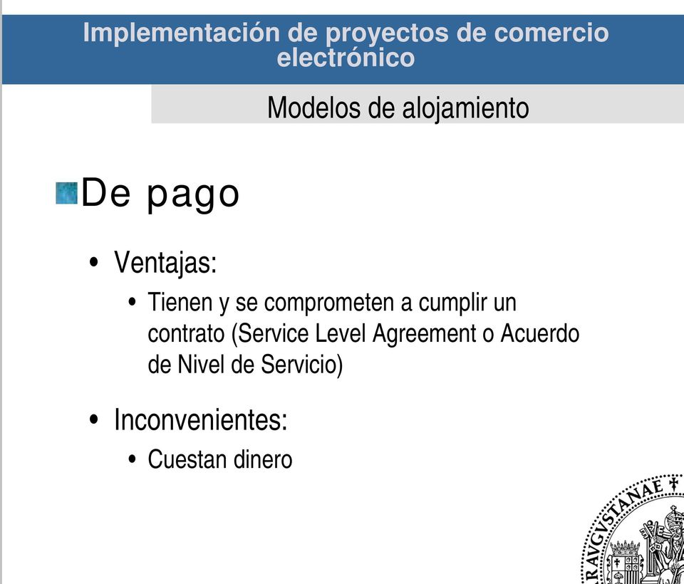 contrato (Service Level Agreement o Acuerdo