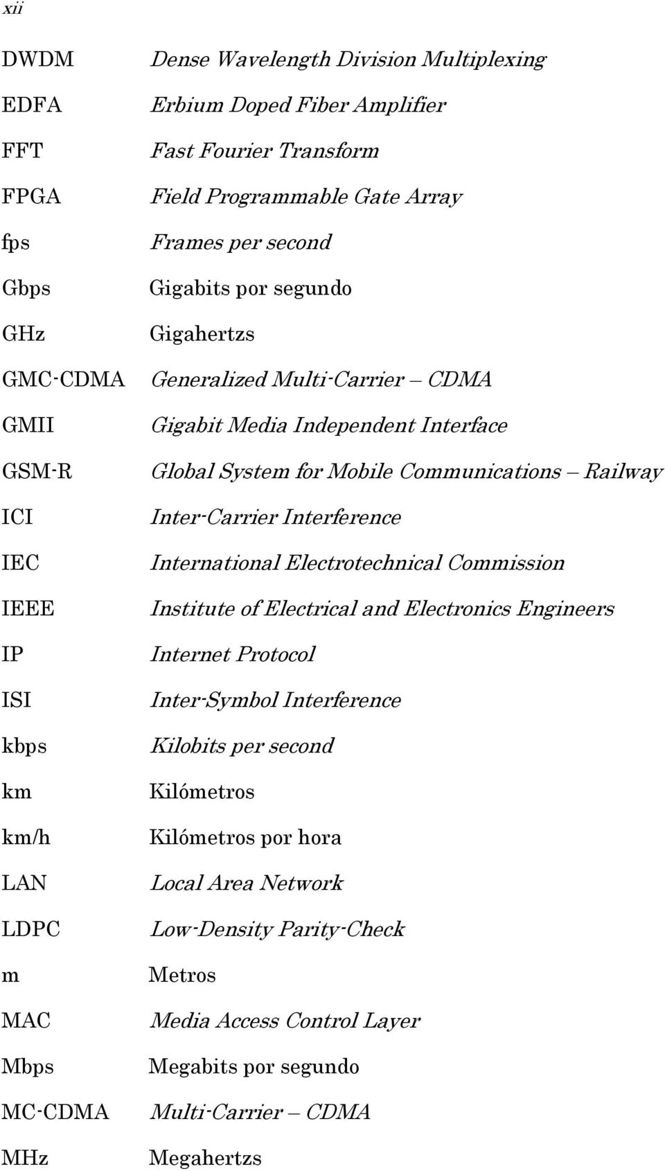 System for Mobile Communications Railway Inter-Carrier Interference International Electrotechnical Commission Institute of Electrical and Electronics Engineers Internet Protocol