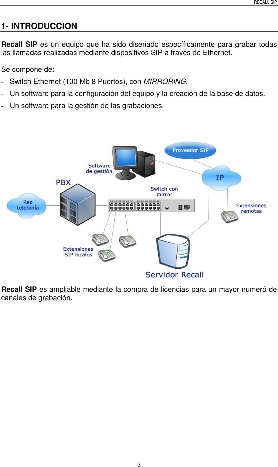 Se compone de: - Switch Ethernet (100 Mb 8 Puertos), con MIRRORING.