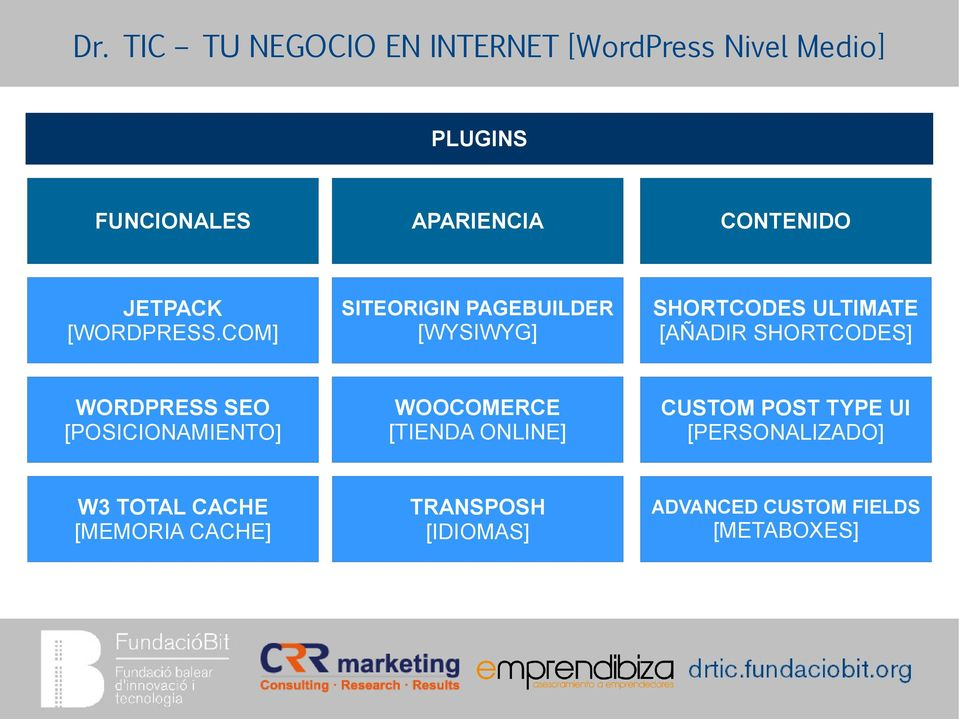 WORDPRESS SEO [POSICIONAMIENTO] WOOCOMERCE [TIENDA ONLINE] CUSTOM POST TYPE UI