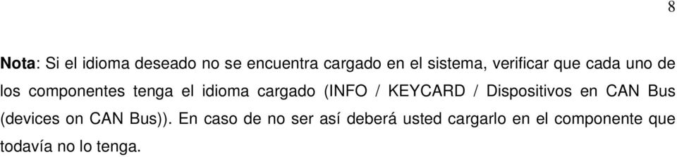 (INFO / KEYCARD / Dispositivos en CAN Bus (devices on CAN Bus)).