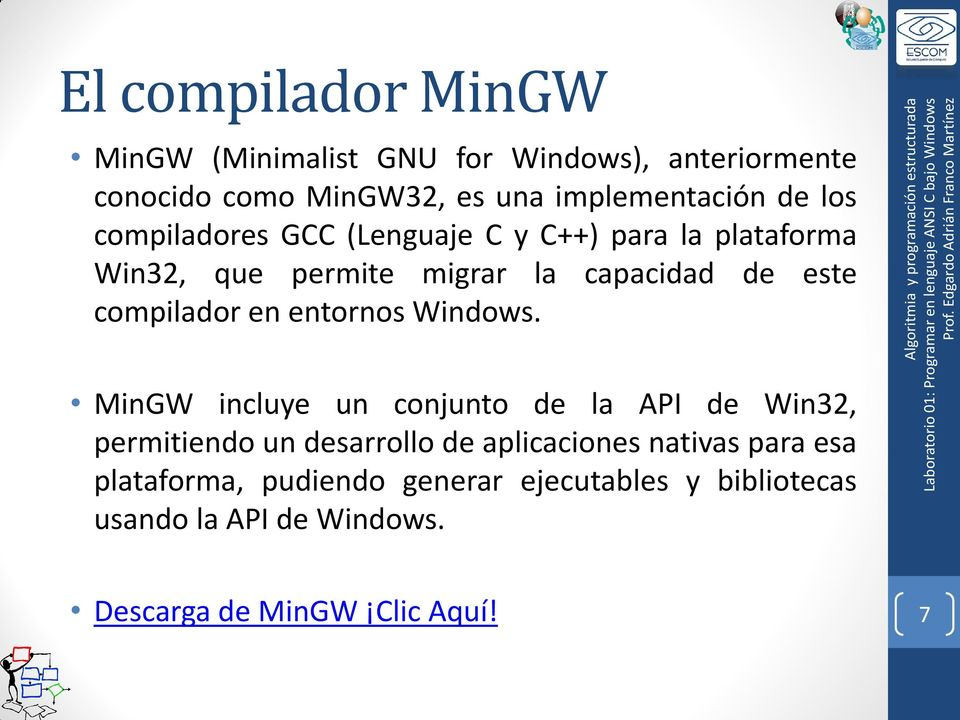 en entornos Windows.