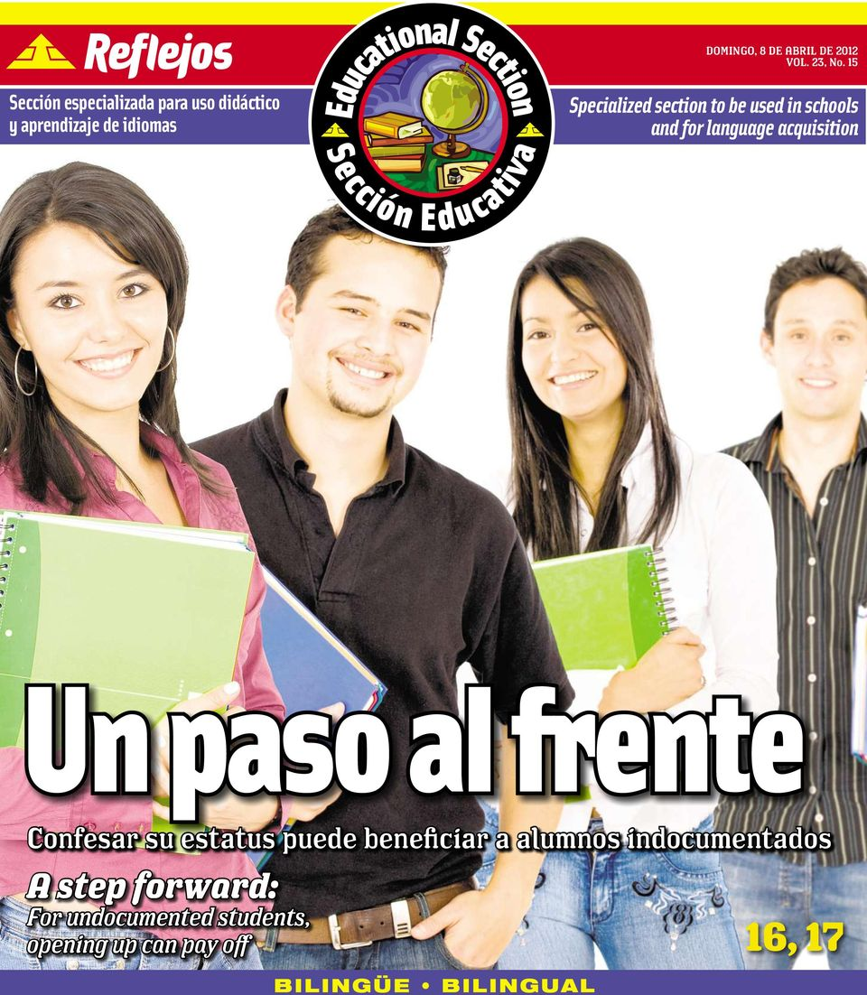 section to be used in schools and for language acquisition Un paso al frente
