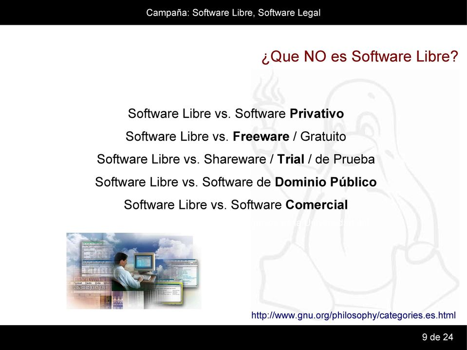 Freeware / Gratuito Software Libre vs.