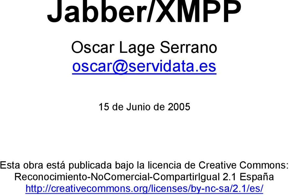 licencia de Creative Commons: