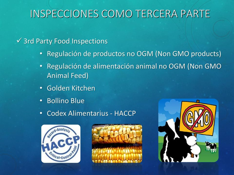 products) Regulación de alimentación animal no OGM (Non