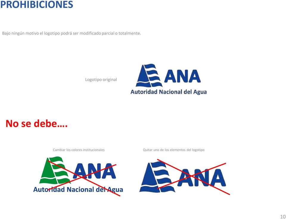 Logotipo original No se debe.