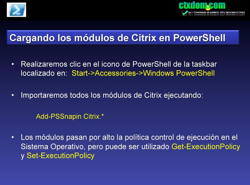 Citrix ejecutando: Add-PSSnapin Citrix.