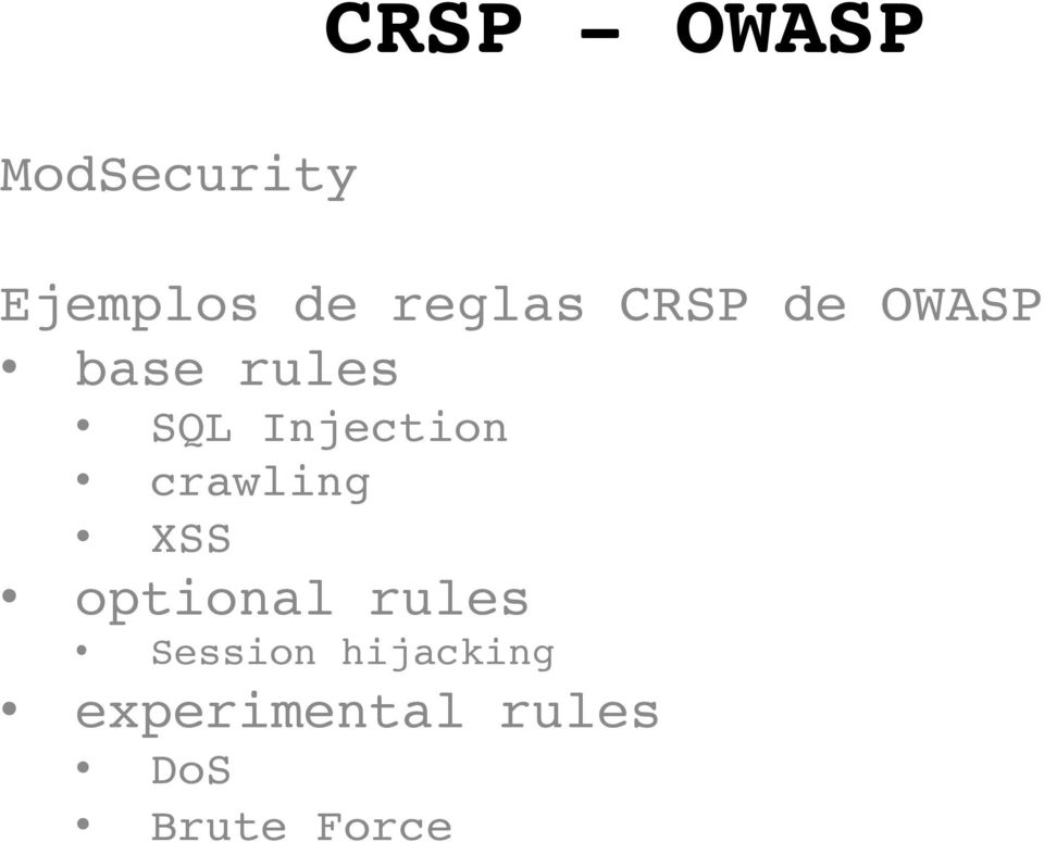 crawling XSS optional rules Session