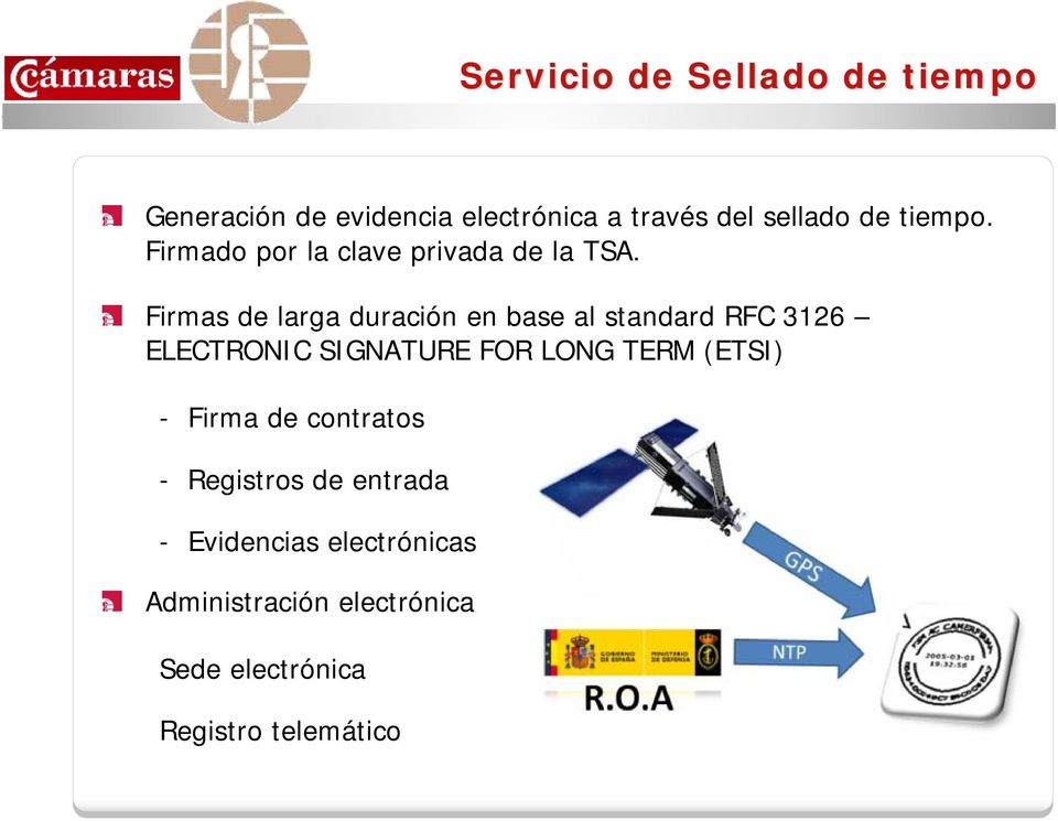 Firmas de larga duración en base al standard RFC 3126 ELECTRONIC SIGNATURE FOR LONG TERM