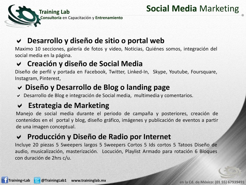 de Blog e integración de Social media, multimedia y comentarios.