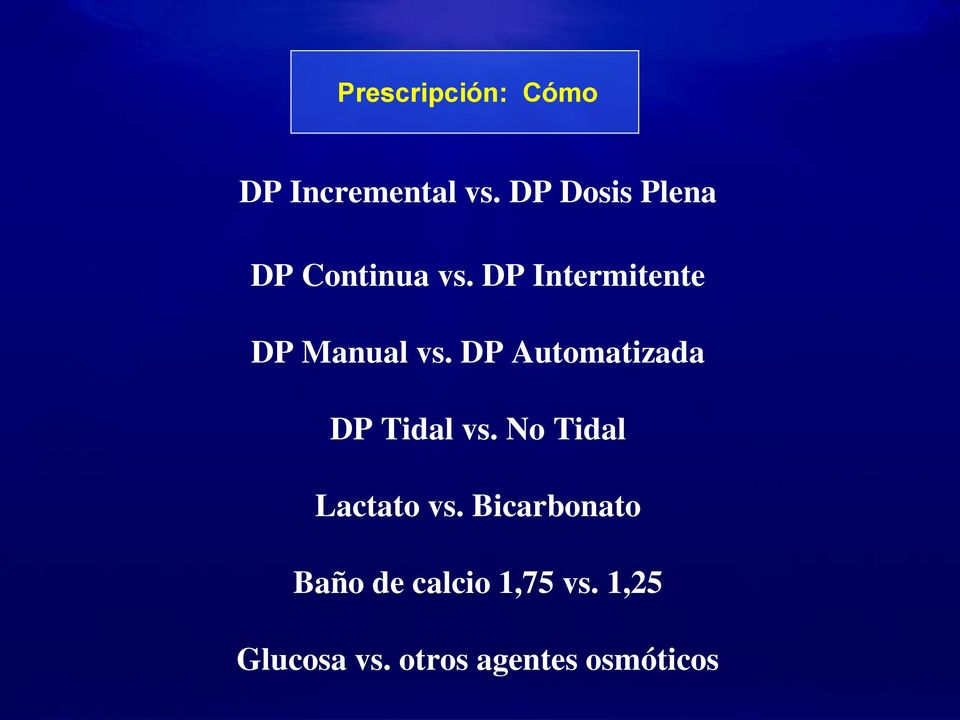 DP Intermitente DP Manual vs.