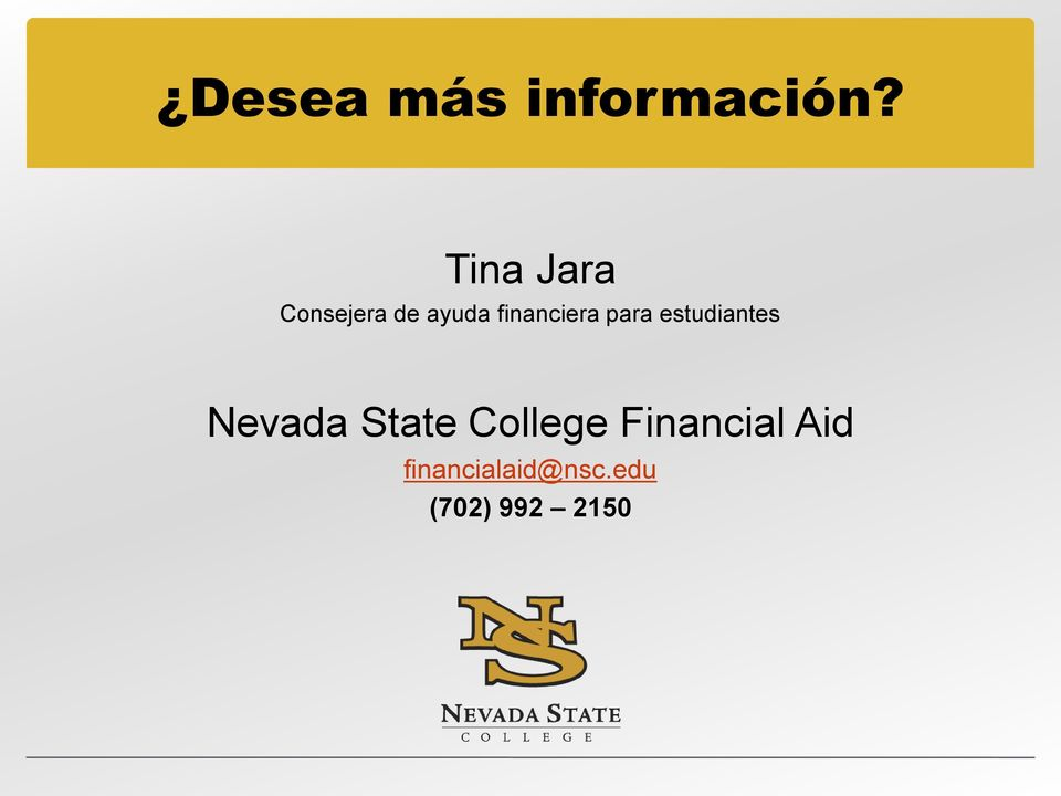 financiera para estudiantes Nevada