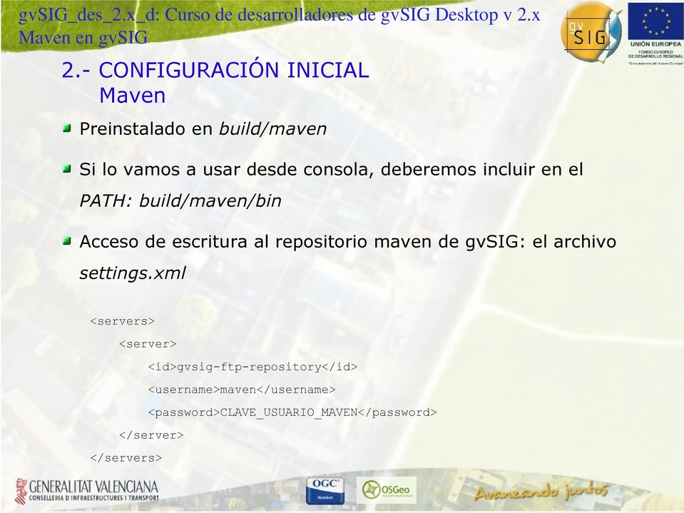 repositorio maven de gvsig: el archivo settings.