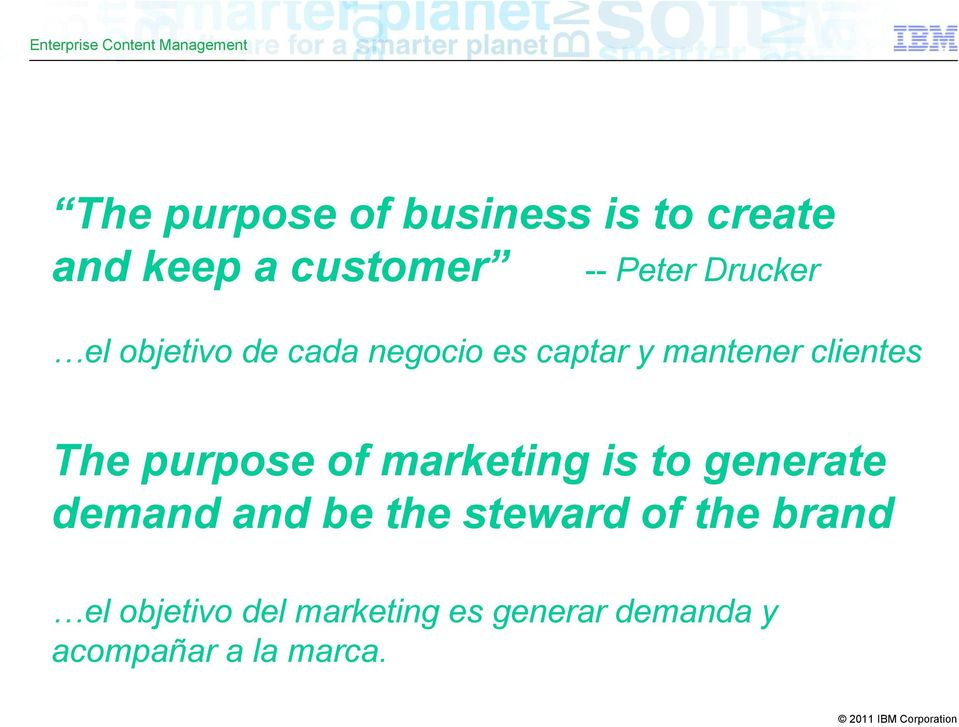 purpose of marketing is to generate demand and be the steward of the