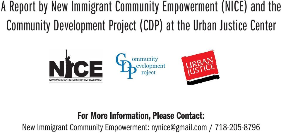 Justice Center For More Information, Please Contact: New
