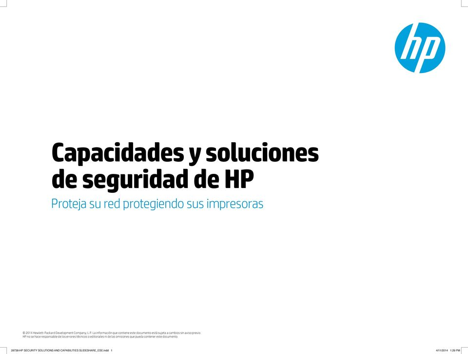 impresoras 28738-HP SECURITY SOLUTIONS AND