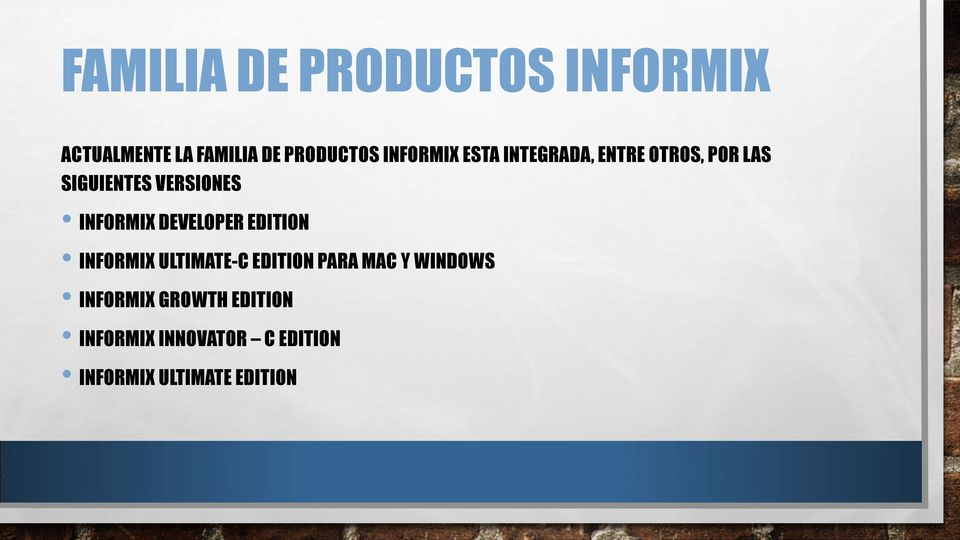 INFORMIX DEVELOPER EDITION INFORMIX ULTIMATE-C EDITION PARA MAC Y