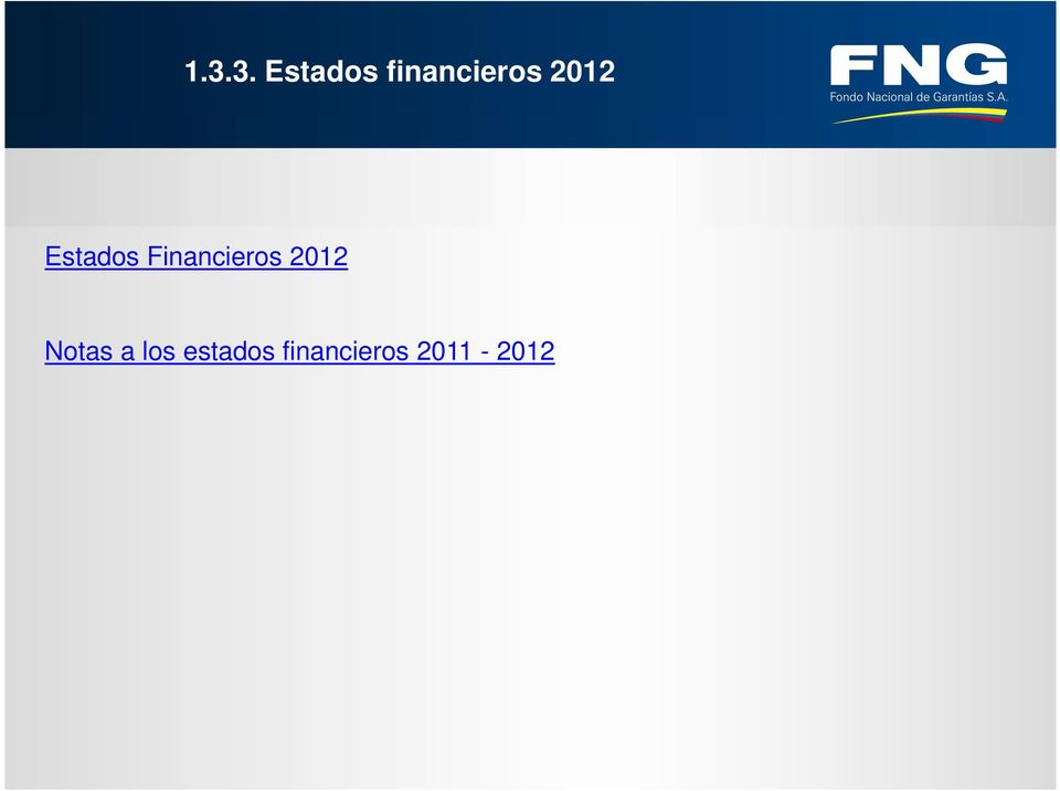 Financieros 2012 Notas a
