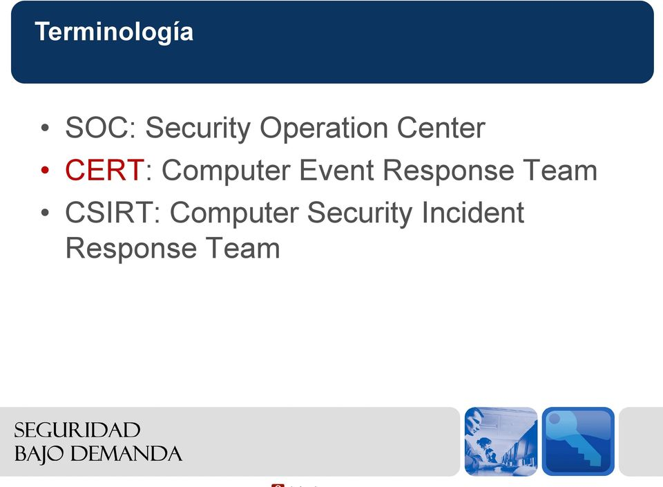 Event Response Team CSIRT: