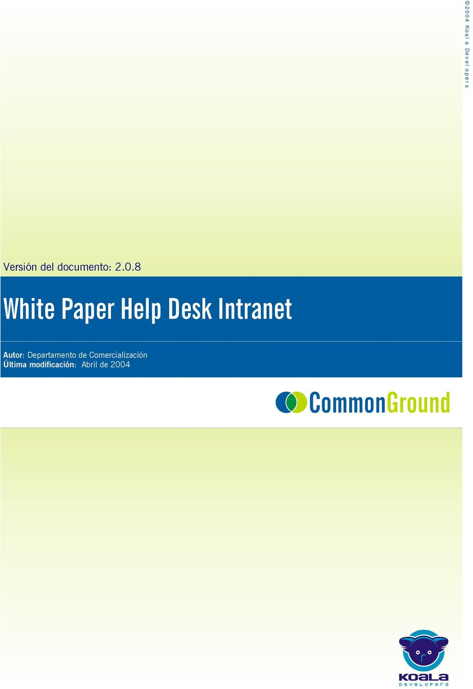 8 White Paper Help Desk Intranet