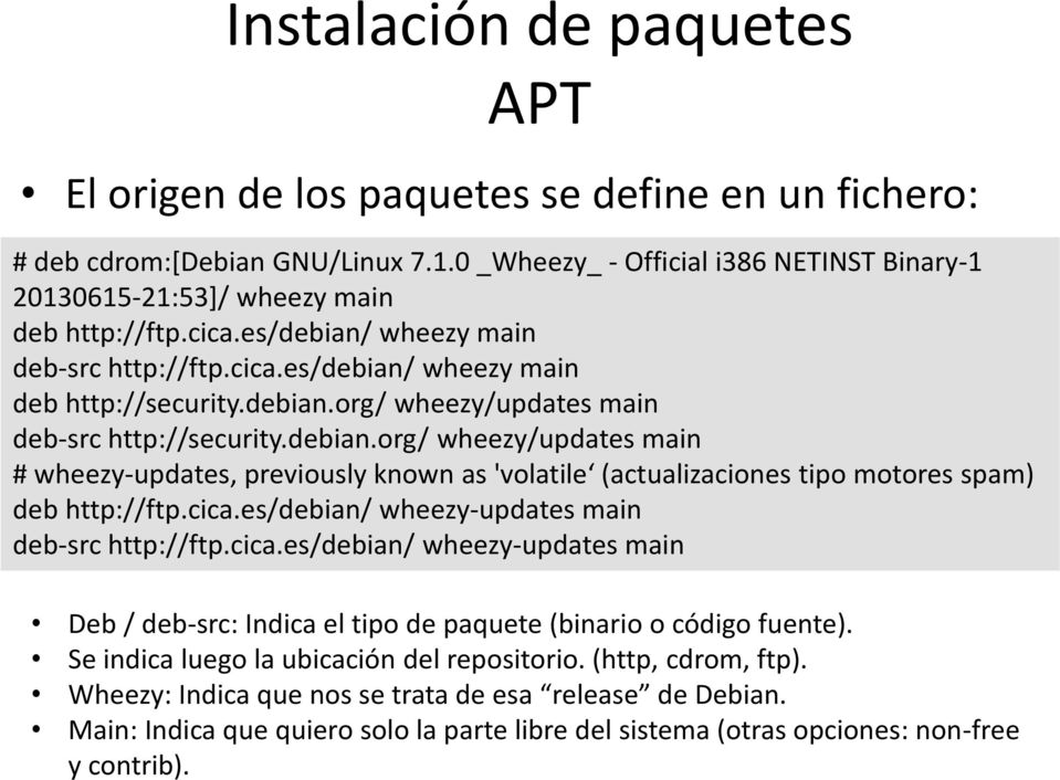 debian.org/ wheezy/updates main # wheezy-updates, previously known as 'volatile (actualizaciones tipo motores spam) deb http://ftp.cica.