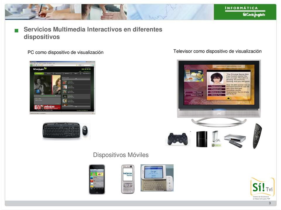dispositivo de visualización Televisor