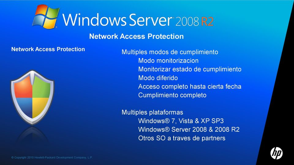 completo Multiples plataformas Windows 7, Vista & XP SP3 Windows Server 2008 & 2008 R2 Otros SO a traves
