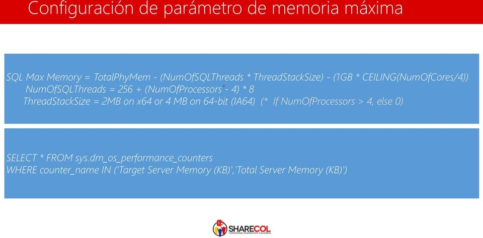 ThreadStackSize = 2MB on x64 or 4 MB on 64-bit (IA64) (* If NumOfProcessors > 4, else 0) SELECT *