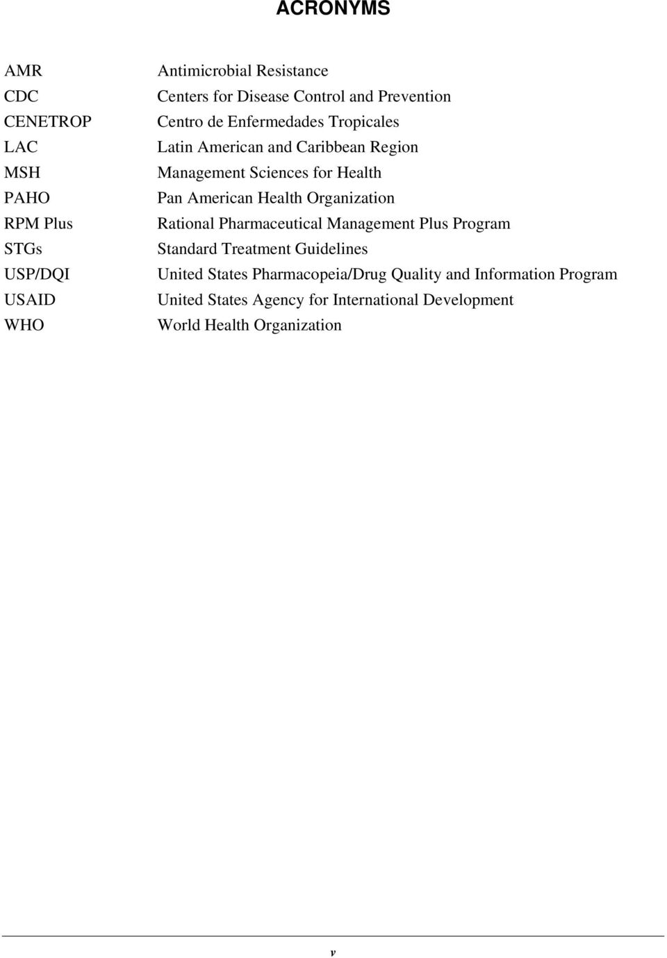 American Health Organization Rational Pharmaceutical Management Plus Program Standard Treatment Guidelines United States