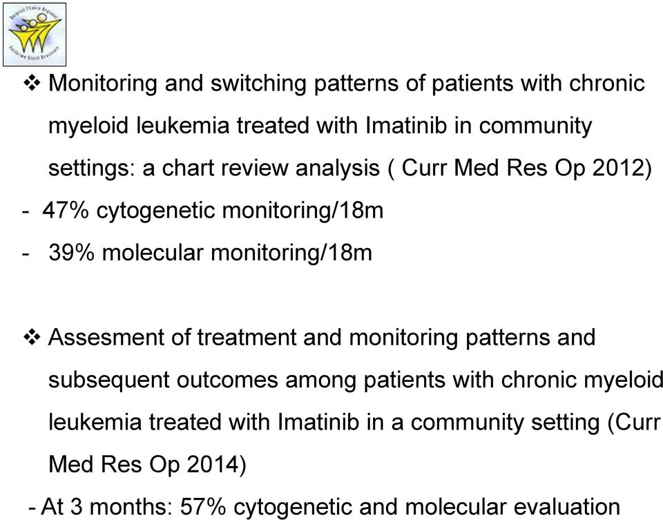 monitoring/18m Assesment of treatment and monitoring patterns and subsequent outcomes among patients with chronic